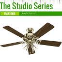 ハンター シーリングファン スタジオシリーズ 53066 ブライトブラス 3スピードデュアルスイッチプレゼント