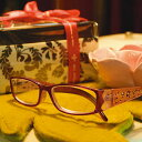 定形外郵便送料無料 キュートお花柄/福祉 介護 ルーペ 老眼鏡 Reading Glasses リーディンググラス 母の日 父の日 ギフトに ダルトン BONOX 敬老の日 プレゼント 贈り物 読書 S95557