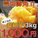 ≪ポイント10倍≫種子島産 訳あり安納芋 3kg1,000円 蜜芋 スイーツ サンプル品 紅芋 指定農家【安納芋3kg】