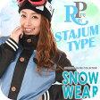 【27日~29日 エントリーでさらにポイント5倍】【裏起毛パーカープレゼント】スノーボードウェア レディース 上下セット スタジャン フラワー レイヤード 上下 スノボウェア スノーボードウエア レディース スキーウェア スノボ SNOWB