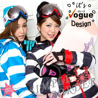 Ladies snowboard clothing up and down set スノボウェア border snowboarding snowboard down set snow were jacket pants 69% off