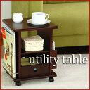 小物収納ができるサイドテーブルとして! キャスター付き 小物収納 ラック マルチテーブル リモコン 収納 インテリア 【新品アウトレット】
