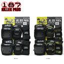 キラーパッド キッズ プロテクターセット 3点セット 187 KILLER PADS JR SIX PACK SET 子供用 エルボーパッド 二ーパッド リストガード スケートボード ストライダー BMX インライン