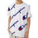 ショッピングチャンピオン チャンピオン Champion Tシャツ カットソー メンズ 半袖 クルーネック ロゴ柄 Lサイズ