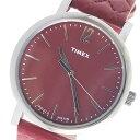 タイメックス TIMEX 腕時計 メンズ レザー レッド