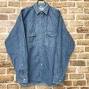 ショッピングウエスタン Scott&Dixon デニムシャツ Mサイズ デニムウエスタンシャツ 古着卸 アメリカ仕入 t209-4089