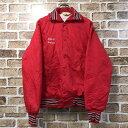 NEFF ナイロンスタジアムジャンパー Sサイズ スタジャン 赤 レッド USA製 古着卸 アメリカ仕入 t203-4255
