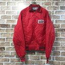 PAG SEEDS ナイロンスタジアムジャンパー Mサイズ位 ナイロンジャケット 赤 レッド 古着卸 アメリカ仕入 t203-4385