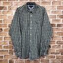 ショッピングTOMMY TOMMY HILFIGER 80's TWO PLY 長袖チェックシャツ サイズ表記XL トミーヒルフィガー 古着卸 アメリカ仕入 t205-3979