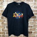 ショッピングディズニー tシャツ Disney 半袖プリントTシャツサイズ表記Mくらい ディズニー ミッキー ドナルド グーフィー プルート ネイビー古着卸 アメリカ仕入 t206-3626