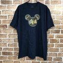 FRUIT OF THE LOOM ディズニープリントTシャツ XLサイズ Disney 半袖 ネイビー 古着卸 アメリカ仕入 t206-3634