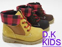 SALE!★DK Kids★ワークブーツ(チェック)★子供靴のVOYAGE通販店キッズ・ジュニアシューズ