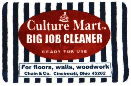 Culture Mart アメリカン フロアマット O (BIG JOB CLEANER ストライプ ネイビー×ホワイト) アメカジ アメリカ 雑貨 アメリカン雑貨 ファブリック インテリア マット カルチャーマート グッズ