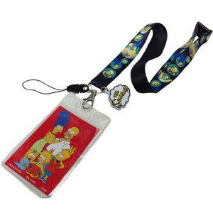 シンプソンズ ネックストラップ カードケース パスケース バート ホーマー Simpsons グッズ