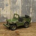 ブリキ製 ミニサイズ ヴィンテージカー (アーミージープ) ARMY ハンドメイド 世田谷ベース ビンテージカー グッズ ミニカー アメリカ 雑貨 アメリカン雑貨