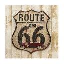 ヴィンテージ風 看板 エンボス加工 ルート66 Route66 アイアンプレート アメリカン雑貨 ルート66 グッズ アメリカ 雑貨 世田谷ベース
