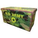 アメリカン ビンテージ風 フォールディングスツール Lサイズ 7.U.S.ARMY USアーミー ミリタリー カモフラ ボックススツール アメリカン..