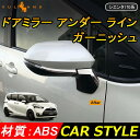 トヨタ SIENTA シエンタ170系 ABSメッキ ドアミラー アンダー ライン ガーニッシュ ドアミラー周り 外装 パーツ アクセサリー 4P
