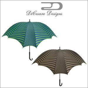 DiCesare Designs(ディチェザレデザイン) 長傘 手開き 晴雨兼用雨傘 CROSS UMBRELLA WALKER LINE&DOTS