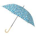 コルコ レディース 雨傘 軽量 カーボン 長傘 全5柄 手開き ブルー 8本骨 58cm カーボンファイバー骨