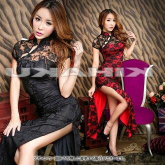 出售中國穿中國長裙服裝 cosplay 服裝騎士水方婚禮 ★ 花形蕾絲長旗袍 cosplay 服裝自由出售