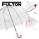 送料無料 新品 フルトン FULTON 傘 雨傘 バードケージ birdcage ビニール傘 長傘