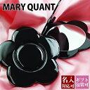 【ネコポス送料無料】名入れ マリークワント MARY QUANT(マリクワ)(マリークアント) マリーズコンパクトミラー メイクアップ 卓上ミラー 鏡 折り畳み デイジー ブラック 正規品 通販ブランド 新品 新作 2019年 ギフト