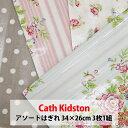 希少 キャスキッドソン 生地 Cath Kidston 約34×26cm 3枚1組 ビニールコーティング カットクロス イギリス 花 花柄 パステルカラー はぎれ 端切れ