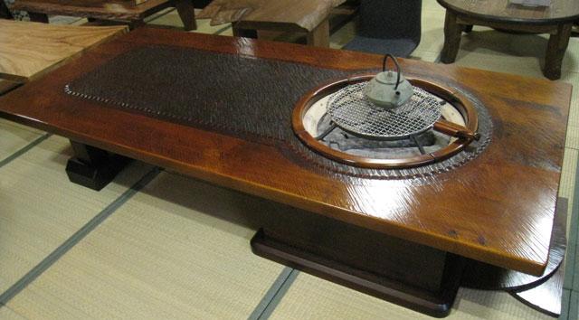 囲炉裏 いろり 囲炉裏テーブル 囲炉裏付きテーブ...の商品画像
