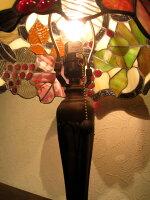 ステンドランプステンドグラスランプ照明器具ステンドガラスステンドランプ葡萄ぶどうブドウスタンドライトテーブルランプ贈り物新築祝い開店祝い結婚祝い母の日お誕生日プレゼント【送料無料】ステンドグラスランプEM-108/葡萄