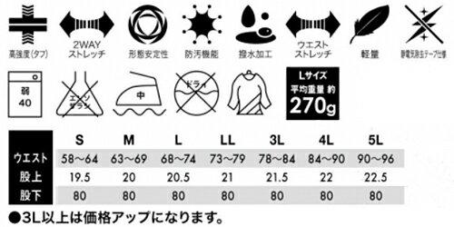 春夏用作業服 作業着ストレッチタフレディースパ...の紹介画像2
