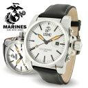 腕時計 メンズ ブランド 人気 ファッション アナログ 革ベルト 通販 MARINES WA118 アメリカ海兵隊(USMC)で現在使用されている本格派ミリタリー☆