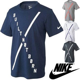 供耐吉人T恤NIKE DRI-FIT棉布比爾特節博恩T恤短袖男性使用的襯衫針織頂端訓練運動服飾/77萬9153/