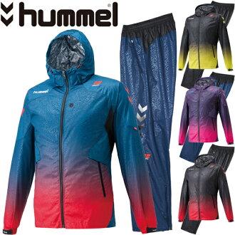 Hummel hummel 男式風衣下設置的男子足球五人制足球風衣風派克褲子 HPFC armiramination 溫暖羽量級上下設置 /HAW2059-HAW3059