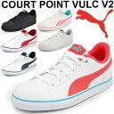レディース スニーカー プーマ PUMA コートポイント VULC V2 BG コートタイプ シューズ カジュアル レディース ガールズ 靴 学生 通学靴 ホワイト ブラック 女性 くつ COURTPOINT ローカット/362947