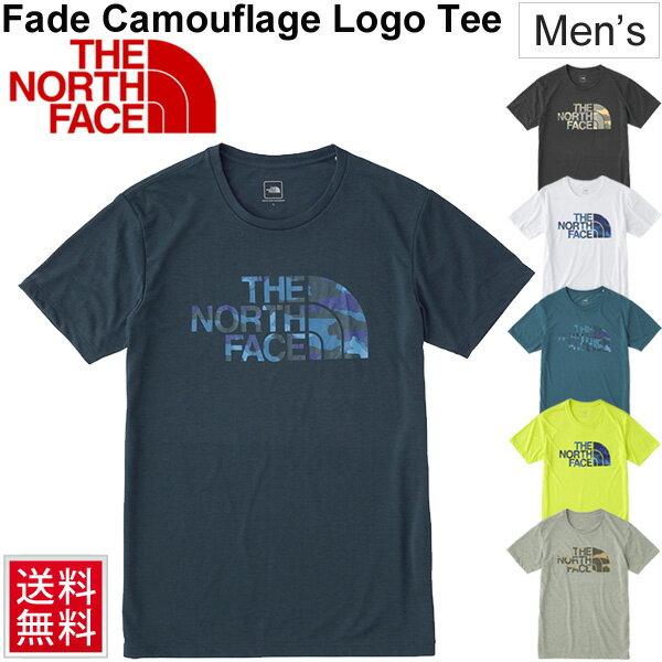 Tシャツ 半袖 メンズ/ザノースフェイス THE NORTH FACE アウトドアウェア 男性 トレッキング キャンプ スポーツ カジュアル ロゴT 半そで ビッグロゴ 男性 フェイドカモフラージュロゴティー トップス/ NT31897