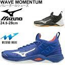 バレーボールシューズ メンズ レディース ミズノ mizuno WAVE MOMENTUM ウエーブモーメンタム 2.5E相当 男女兼用 一般 学生 /V1GA1912