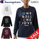 Tシャツ 長袖 レディース チャンピオン champion WOMEN'S E-MOTION プラクティスL/STシャツ バスケットボール スポーツウェア トレーニ..
