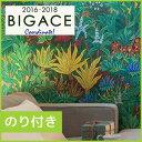 RoomClip商品情報 - 【壁紙】【のり付き】シンコール原色で描かれた大胆な南国植物がインパクト大!__ba6057