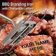 BBQ Branding Iron with Changeable Letters アルファベットの焼印セット!ステーキに名前やメッセージを!【アウトドア/焼肉/バーベキュー/お菓子/パン/ケーキ/パーティ/クリスマス】【ポイント2倍】Jul16