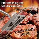 BBQ Branding Iron with Changeable Letters アルファベットの焼印セット!ステーキに名前やメッセージを!【アウトドア/焼肉/バーベキュー/お菓子/パン/ケーキ/パーティ/クリスマス】【ポイント】05P03Dec16