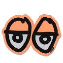Krooked Eyes Sticker Neon Orange【クルキッド アイズ ステッカー】クルックド/ロゴの目/スケートボード/スケボー/ダイカット/シール/デカール/ネオンオレンジ【STDサイズ】 /【ポイント】05P03Dec16