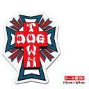 【メール便OK】ドッグタウン スケートボード クロス ロゴ ステッカー 4インチ【Dogtown Skateboards Cross Logo Die Cut sticker 4inch..