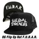 スイサイダルテンデンシーズ フリップ メッシュ キャップSUICIDAL TENDENCIES OG Flip Up Mesh Hat F.U.B.A.R (Black)スナップバック 黒 Black 野球帽 帽子 キャップ CAP
