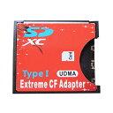 SDカードをCFカードTypeIに変換するアダプター コンパクトフラッシュ SD/SDHC/SDXC/WiFiSD対応 UDMA6 90MB/s 【並行輸入品】 ◇SD-CF【メール便】