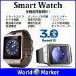 多機能搭載 Bluetooth3.0 スマート ウォッチ 腕時計 ハンズフリー通話 電話帳機能 置き忘れ通知 受信送信 リモコン撮影機能 録画 Android 軽量 ◇GV08S