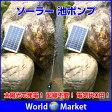 太陽光 ソーラー ポンプ 噴水 池 ウォーターガーデン 庭 養魚池 庭の噴水 配線不要 電気代0円【ソーラーLED】◇GY-D-005