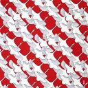 風呂敷 日本製【濱文様 祝鶴(赤)】ふろしき 小判 サイズ 50cm 綿 おしゃれ 捺染 濱文様 小布 鶴 祝 慶事 正月 縁起 お弁当 モダン タ..