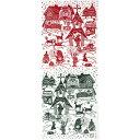 ◇メール便OK♪合計2500円(税抜)以上でメール便送料無料◇【にじゆら・手ぬぐい】X'masのお話(赤×緑)〜クリスマス柄・北欧柄〜05P03Dec16