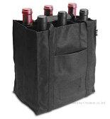 プルテックス ワインバッグ6本用 ブラック ラッピング不可商品